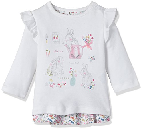 Mothercare Baby Girls' T-Shirt (JF301-1-off-white-6-9 M)