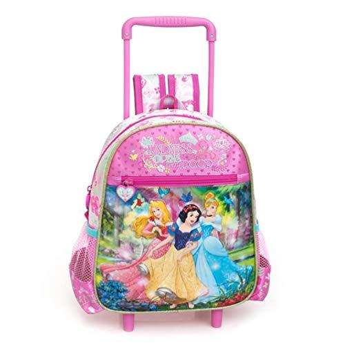 Disney princess zaino / trolley asilo cm 29x25x11