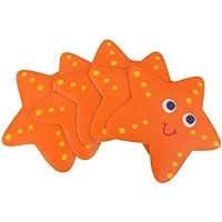 5pcs Pegatinas Peldaños de Seguridad Antideslizanteo Calcomanía Forma Estrellas de Mar para Baño