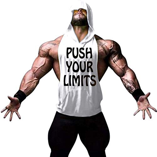 JKLEUTRW Sleeveless Herren Sport, Mode Männer Atmungsaktives Bodybuilding Shirt Fitness Sportshirt Saum T Shirt Weste Atmungsaktives Tanktop Yoga Tops Passform Vests