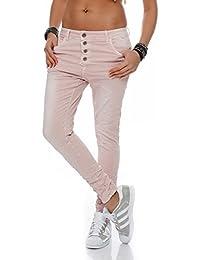 SKUTARI - Femme Jean Pantalons Boyfriend Grand Taille