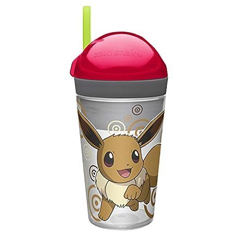 Zak Designs Pokemon Eevee 133 ZakSnack Tumbler Cup - Snack Cup - 4oz Snack - 10oz Drink Capacities - Novelty Character Drinkware - Item
