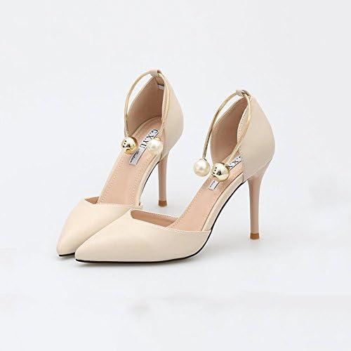 DALL Zapatos de tacón Ly-655 Boca Poco Profunda Zapatos De Mujer Tacones Finos Apuntado Cabeza Tacones Sandalias...