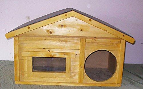 TTF Katzenhaus Outdoor mit Windfang vollisoliert