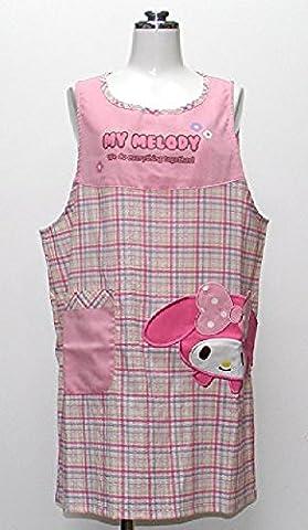 My Melody PLush Figure Khao Poke Little melody applique apron