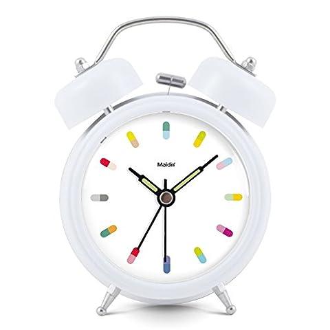 Horloge Créatrice D'alarme D'étudiant/Horloge De Chevet Muet/Horloge Lumineuse De