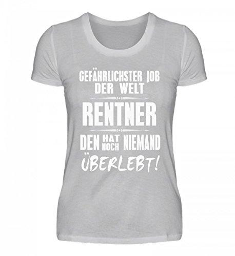 Camicia Bio Da Donna Di Alta Qualità - Pensionato - Lavoro Più Pericoloso Nel Mondo Grigio (chiazzato)