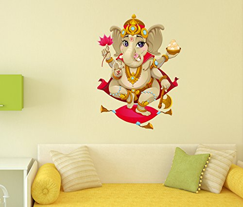 Decals Design 'Shree Ganesh' Wall Decal ( PVC Vinyl, 70 cm x...