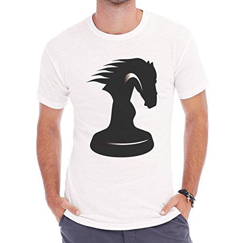 Horse Animal Pony Stud Chess Herren T-Shirt Weiß