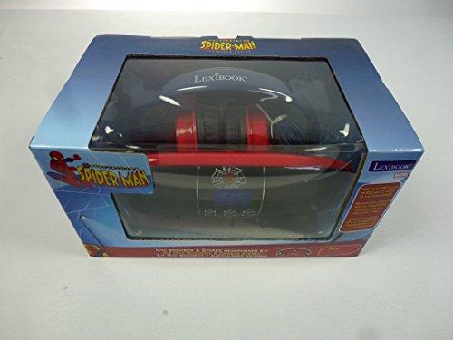 WU029399, LEXIBOOK Spider Man Mini Boombox mit Stereo Kopfhörer, mit Radio usw Cd-player Für Kinder Spiderman