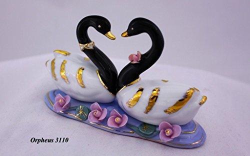 Delicate Feng Shui Swans-Hand und Verziert chinesischem Porzellan 11013 China Swan