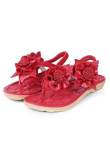 LFNLYX Chaussures Femme-Mariage / Bureau & Travail / Habillé / Décontracté / Soirée & Evénement-Noir / Blanc-Talon Plat-Confort / Nouveauté / Red