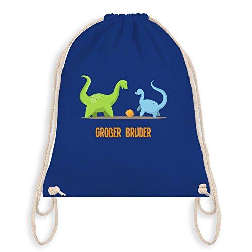 Geschwisterliebe Kind - Großer Bruder Dinosaurier - Unisize - Royalblau - WM110 - Turnbeutel & Gym Bag