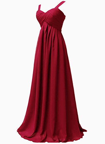 Azbro Women's Empire Waist Ball Gown Prom Bridesmaid Maxi Dress Navy