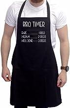 Divertido delantal para barbacoas. Novedad en regalos para hombres, delantal para barbacoas BBQ Timer