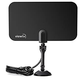 ViewTV 25 Mile Aerial TV Antenna - DVB-T2 & DVBT-HD Digital Ready High Performance Digital Antenna (Super Thin design)