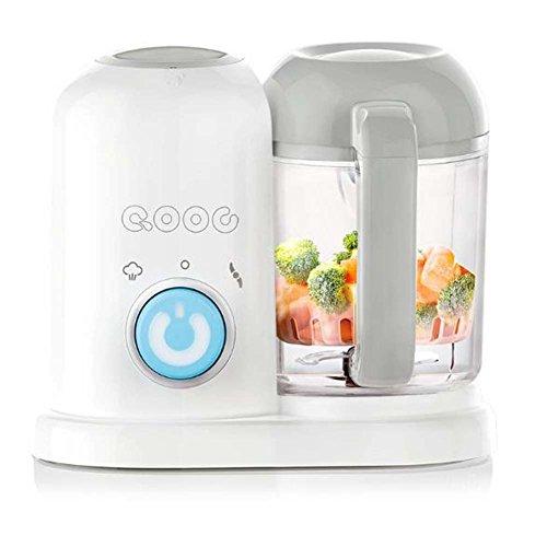 4-in-1 Mini Babynahrungszubereiter Elektro-Küchengeräte Fütterung Maschine Blender und Dampfer (Blau-Q1)