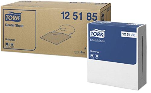 Tork 125185 Dentalserviette Universal/Patientenservietten in Einzeltuchentnahme/1 x 1250 Stück 1-lagig (34 x 37 cm)