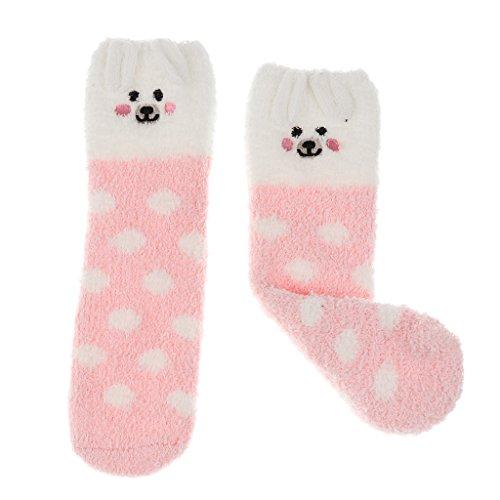 en Fleece Socken Weihnachten Haussocken für Damen Herren Geschenk - Rosa Schwein, wie beschrieben (Schwein Anzug)