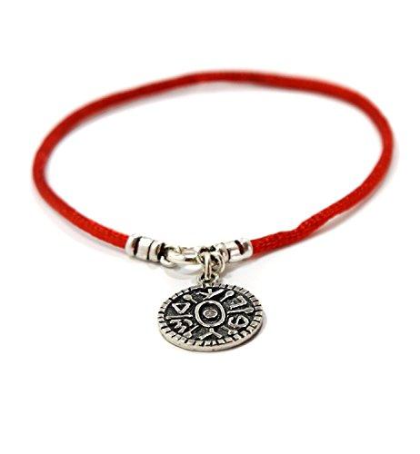 Donna Apricancello Solomon sigillo amuleto su filo di seta braccialetto