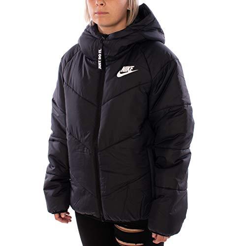 Nike W NSW WR Syn Fill JKT HD Hooded Jacket, Damen M Schwarz, Schwarz, Weiß