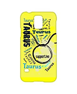 VDESI Designer Matte Back Cover For Samsung Galaxy S5 (SM-G900I) - Taurus (Ylw)