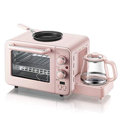 YHSFC Multifunktions-3 in 1 Frühstück Maschine 8L Elektro Mini Backofen Kaffeemaschine Eier Pfanne Haushalt Brot Pizzaofen Grill braten