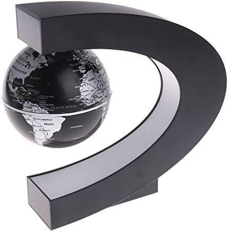 Exing Globe flottant à lévitation magnétique en forme de C Globe terrestre Carte du monde avec lumière LED Décorations pour le bureau Outils pédagogiques (Noir) B07MNDJCYC | La Plus Grande En Matière De Commodité