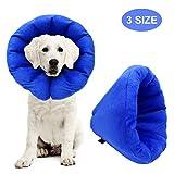 AK KYC Pet Aufblasbares Halsband für Hunde, Kegel nach Operationen, verstellbar, für kleine und mittelgroße Hunde
