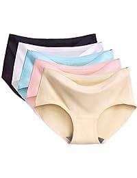 Bragas Pantalones de Mujer sin Costuras Señoras Ropa Interior Secret Hug  Sexy Low Rise Calzoncillos de Encaje Bikini… 5779ddb9a62f