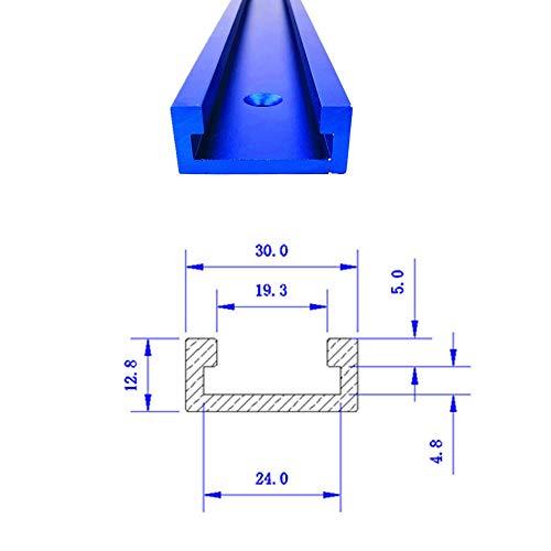 T-Schienen-Gehrungsvorrichtungs-Befestigungs-Schlitz-Aluminium,T-Schienen-Gehrungsvorrichtungs-Werkzeuge für Holzbearbeitungs-Fräser 800MM Blau