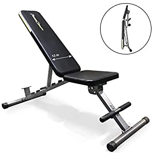 Fitness Reality Unisex Adult 1000 Super Max Adjustable Weight Bench - Grey Black, N/A by NetFit Europe