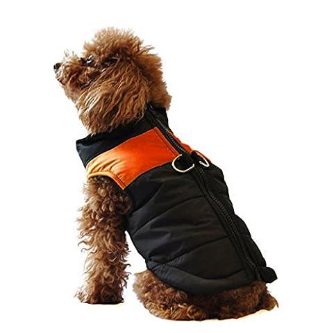 UBEST Dog Coat Waterproof Jacket With D-Ring Warm Padded Puffer Vest Orange 17