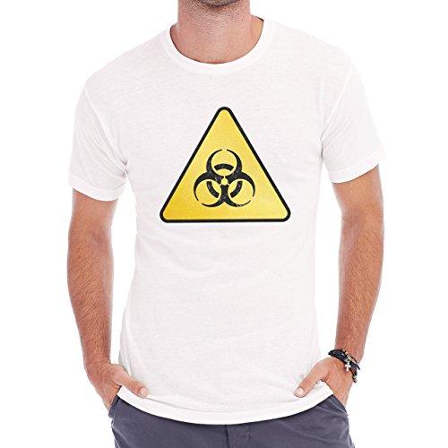 Danger Sign Warning Caution Radiation Herren T-Shirt Weiß