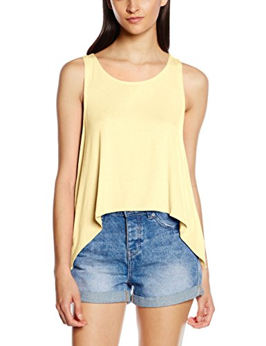 Only Damen Onlmiley S/L Pleat Top ESS, Gelb (Mellow Yellow), 38 (Herstellergröße: M) (Drapiertes, Top Ärmelloses)