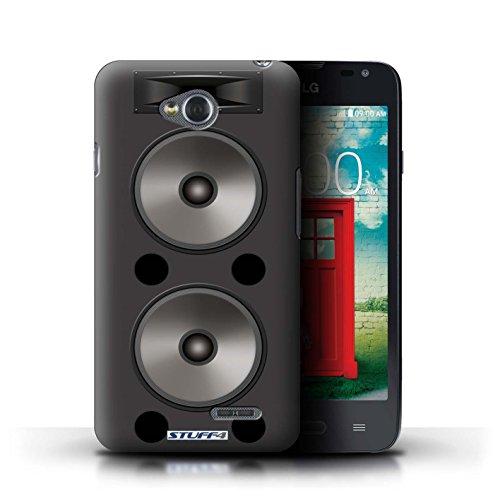 Kobalt® Imprimé Etui / Coque pour LG L65/D280 / Amplificateur conception / Série Haut-Parleur dessin Double