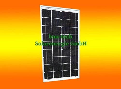 1 Stück 30 Watt Solarmodul Solarpanel Photovoltaik Solarzelle monokristallin von bau-tech Solarenergie GmbH