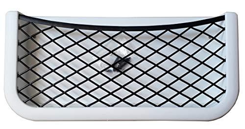 FP INOX - Rete portaoggetti Adesiva, 260 x 122 x 28 mm, per Auto, Barca, Campeggio, Auto