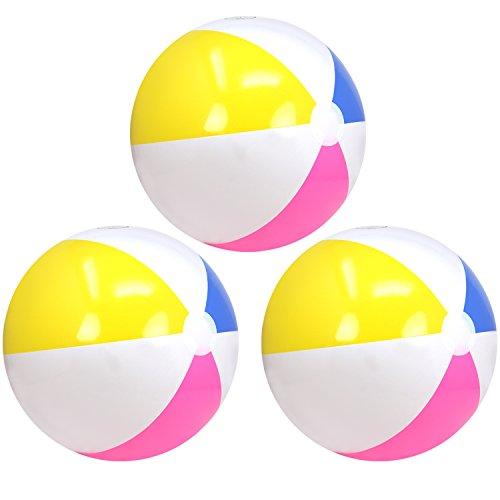 com-four® 3X Pelota de Playa, Pelota de Playa en Colores de Verano,...