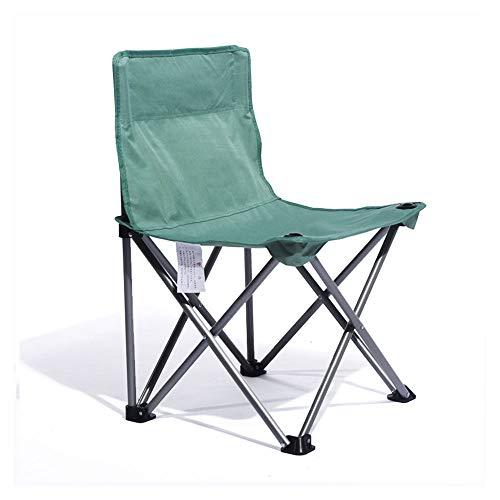 HUACANG Chaise Pliante Portable Esquisse d'un Étudiant en Art Pique-Nique en Plein Air Chaise Longue Touristique avec Chaise De Dossier Vert Bleu Rouge Violet (Couleur : Vert)
