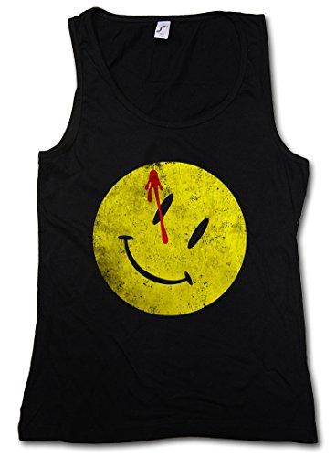 BLOODY BUTTON DONNA CANOTTA TANK TOP - Il sanguinoso Comico Watchmen Heroes Comedian Comic TV Smiley The Taglie S - XL