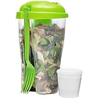 Sagaform Ensalada To Go Taza Incluye Tenedor y Dressing Ensalada vasos Ensalada Depósito de ensalada Box fruta ensalada yogur Taza