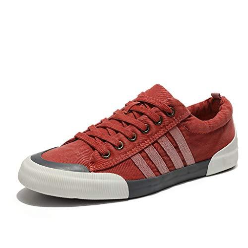 YEARNLY Herren Sneaker | Bequeme Sportschuhe für Herren | Low top Turnschuh Textil Schuhe Männer Sportschuh,Low-Top