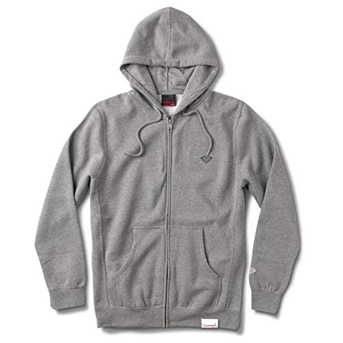 Diamond Supply Co. Micro Brilliant Zip Hoodie Heather Grey Diamond Zip Hoodie