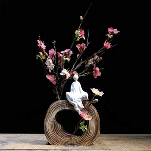 Xianw Pflaumenblüte Kunst Dekorationen, Blume Einfügen DIY Home Decorations Art Decor, Schlafzimmer Dekor,F