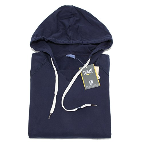 8792M felpa uomo EVERLAST blu sweatshirt men [S]
