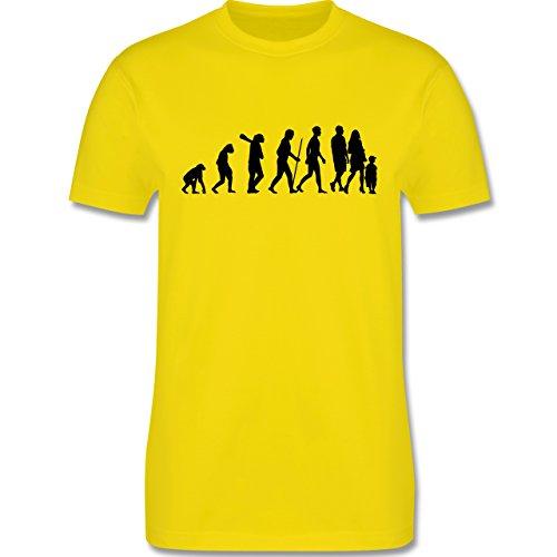 Evolution - Familie Evolution - Herren Premium T-Shirt Lemon Gelb