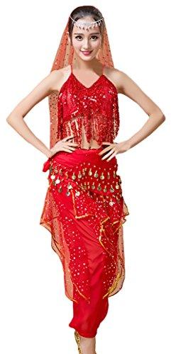 Faschingskostüme Erwachsene Damen Darstellende Künste Indisch Performance-Kleidung Festlich -