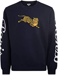 981a16ce Kenzo Mens Jumping Tiger Sweatshirt, Ink Blue Crew Neck Sweat
