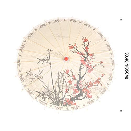 Webla Schöner Papierregenschirm chinesischer Seidenregenschirm klassischer Regenschirm dekorativer Artpapierregenschirm, Plastik